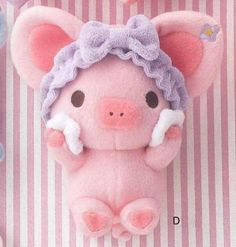 "Xan-X Piggy Girl Plush (8"") - Type-D. Imported from Japan.:Amazon:Toys & Games"