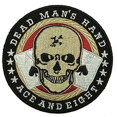 Dead Man's Hand Tactical Ace and Eight Punisher Patch - By Patch Squad Pvc Patches, Biker Patches, Cool Patches, Aces And Eights, Poker, Military Pins, Tac Gear, Brothers In Arms, Ace Of Spades
