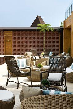 Djati Lounge in Malang, Indonesia by Ellyana Tse  #wood #pool #tropical #restaurant #interior #design