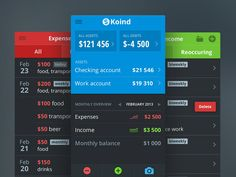 Here we present 50 cool finance app ui design for mobile, which we're sure will give you some ideas. Use these for inspiration on parts of your mobile app design Mobile Ui Design, App Ui Design, Web Design, Flat Design, Interface Design, Graphic Design, Finance Quotes, Finance Logo, Financial Budget