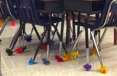 This is one of the smallest BEST things I've done in a long time. Chair Socks! Felt, zip ties and scissors are all you need!  Check it out at www.superteachsspecialsedspot.blogspot.com THE SIMPLEST THINGS!!!by Superteach's Special Ed Spot at http://www.superteachsspecialedspot.blogspot.com
