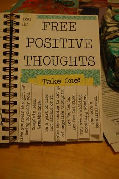 Let's pass around the positive thoughts -- the world needs more of them! Great idea for a journal page, then record who you gave them to. Bullet Journal Design, Bullet Journal Notebook, Bullet Journal Ideas Pages, Bullet Journal Inspiration, Art Journal Pages, Journal Prompts, Journal Cards, Journal Quotes, Art Journals