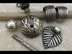 Intermediate Metal Clay Jewelry Course with Stephanie Chavez Clay Classes, Metal Clay Jewelry, Precious Metal Clay, Paper Clay, Bead Crochet, How To Make Beads, Polymer Clay, Stone, Accessories