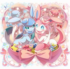 Sylveon and Glaceon