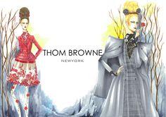 Illustration.Files: Thom Browne F/W 2013 by Gloriana Stephany