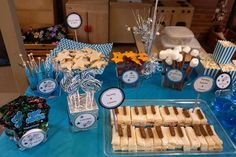 Fun food at a rockstar birthday party! See more party planning ideas at CatchMyParty.com!