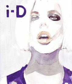 Pictura in acuarela_i-D magazine cover de Ipipura Breslo