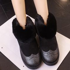 18.56$  Watch now - http://aliq9a.shopchina.info/go.php?t=32754004430 - New Arrival Women snow boots Faux Fur Warm Winter Boots Women Fashion Ankle Boots Women Boots Wool Inside HSP75 18.56$ #magazine