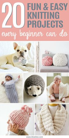 To get you started on some gorgeous but simple projects, we've found the 20 easy knitting projects that every beginner can handle. Now your biggest decision is deciding which one of these knitting projects you'll start first.