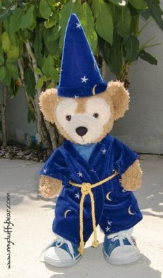 Duffy the Disney Bear's Cool Wizard Outfit!
