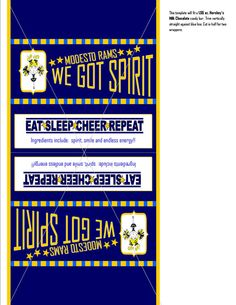 Printable Customizable Cheerleading Candy Bar Wrapper by tracypugh, $7.00
