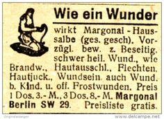 Original-Werbung/ Anzeige 1920 - MARGONAL HAUSSALBE - BERLIN - ca. 35 x 20 mm