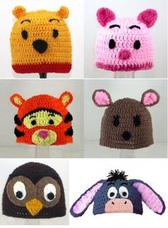 Pooh and Friends hats