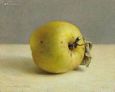 Art Card 'Notaris' apple by artist Henk Helmantel. Art Revisited online store for affordable Art! Art calendars, Art books and Giclées. Fruit Painting, Painting Tips, Apple Picture, Still Life Artists, Still Life 2, Classical Realism, Apple Art, Realistic Paintings, Mini Paintings