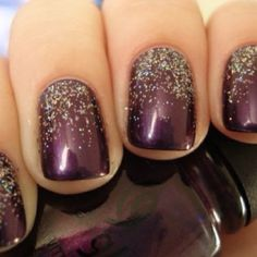 If merlot is the color - think the sister should get nails like this to match.