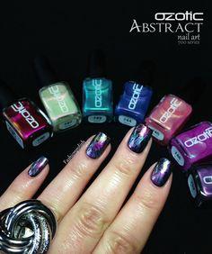 Ozotic 700 series review and Abstract nail art!