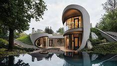 (15701) YouTube Futuristic Home, Futuristic Architecture, Interior Architecture, Futuristic Design, Interior Design, Amazing Architecture, Residential Architecture, Landscape Architecture, Biophilic Architecture