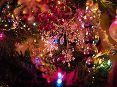 jewel snowflakes  by lauralikescoffee, via Flickr
