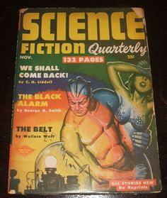 Science Fiction Quarterly for November 1951 Vintage Pulp Cover Art See Phots