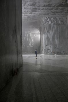 Carrara Marble Quarry, inside the mountain