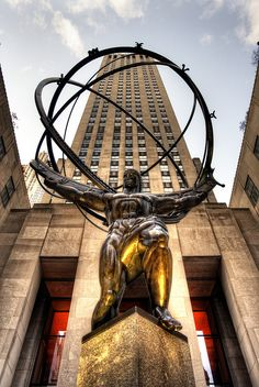 """SCULPTURAL ART - Int Lyrical """"Atlas"""" - Inspired by the Atlas Statue, by Lee Lawrie, 5th Avenue, New York City"""