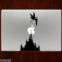 Tinker Bell and Disney Castle Decal Sticker For Macbook 13 15 inch Pro Air