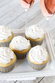 Celebrate the New Year with these gluten free vegan champagne cupcakes. Light vanilla cupcakes infused with champagne, topped with a champagne buttercream. Cheers! Champagne just so happens to be the most popular sparkly drink for New Year's Eve. It's very bubbly, a little fruity and best served chilled. Quite the delicious celebration drink. Now, onto these …