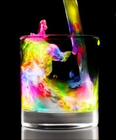 This drink looks like it'd give you superpowers.. and a bad hangover.. still want to drink it though.