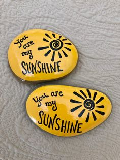 Are My Sunshine Encouragement Rock Affirmation Stone Rock Painting Patterns, Rock Painting Ideas Easy, Rock Painting Designs, Rock Painting For Kids, Pebble Painting, Pebble Art, Stone Painting, Painted Rocks Craft, Hand Painted Rocks