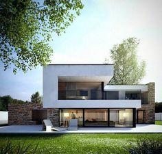 """304 Likes, 6 Comments - Simple Progress Atelier (@modernidomy) on Instagram: """"Naší specializací jsou moderní rodinné domy #house #modernhouse #livinglife #arch #archil"""