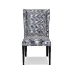 Ashbury Dining Side Chair, Ebony, Labyrinth Weave, Navy