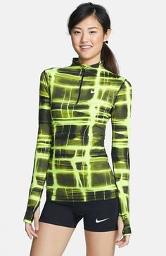Nike 'Pro' Dri-FIT Printed Half Zip Top available at #Nordstrom