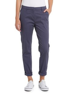 Relaxed and effortless cool, these chino pants have a turned up cuff for attitude, a zip front opening, front pockets and belt loops. Try them with canvas sneakers for the weekend, or dress them up with pumps for work. Work Pumps, Canvas Sneakers, Leggings Fashion, Attitude, Leggings Are Not Pants, Pockets, Belt, Zip, Casual