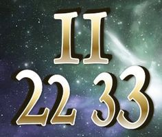 The Master numbers | Numerology.comWhen we see sets of numbers (like 111, 222, 333, 444, etc.) it is a sign from our spirit guides or angels letting us know they are here, watching over us. It is recommended to take note of what you are thinking about at the time you see a particular set of numbers, especially if you notice them repeatedly.