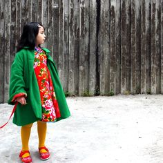 chinese new year dress: a stunning photograph, love the colour contrast