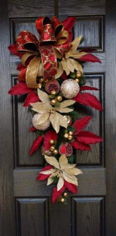 LISTO PARA ENVIAR, coronas navideñas para puerta principal, guirnalda de decoración navideña, guirnalda navideña tradicional, coronas navideñas, coronas navideñas