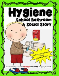 A Hygiene Social Story great for teaching school bathroom routines! Includes asking for a bathroom pass, getting a drink and washing hands. *****************This product is available in a bundle!!******************Here is what is included: 11 Page Color Social Story 11 Page Black Line Master Social Story Bathroom Pass, School Bathroom, Teaching Schools, Teaching Resources, Life Skills Classroom, First Day Of School Activities, Social Stories, Rock Stars, Social Skills