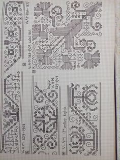 The Greek Institute Towel from Mytilene - with sprays of multi-colored flowers Blackwork Patterns, Blackwork Embroidery, Hungarian Embroidery, Folk Embroidery, Cross Stitch Embroidery, Embroidery Patterns, Cross Stitch Borders, Cross Stitch Patterns, Bargello