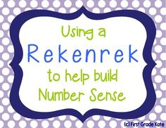 Heard of the Rekenrek?  If you haven't, you NEED to check it out!  It is a fantastic tool for building number sense! $