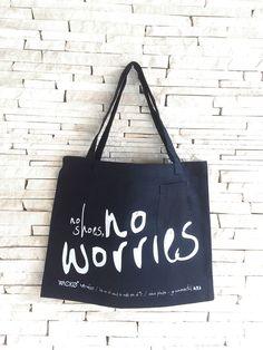 Items similar to EcoBag - No Shoes No Worries on Etsy No Worries, Trending Outfits, Unique Jewelry, Handmade Gifts, Design, Bags, Etsy, Shoes, Products