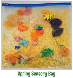 Spring Sensory Bag Play - Artsy Momma