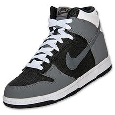 quality design a37e8 69139 Men s Nike Dunk High Basketball Shoes Nike Dunks, Top Shoes, Black And Grey,