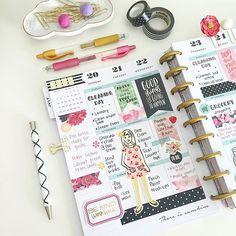 Pretty planner layout