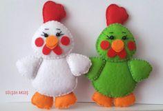 Felt chicken #feltro #felt #chicken #toys #DIY #keçe