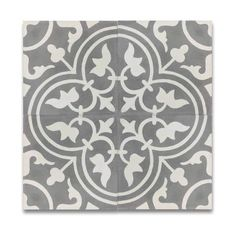Casa Grey and White Handmade Moroccan 8 x 8 inch Cement and Granite Floor or Wall Tile (Case of 12)