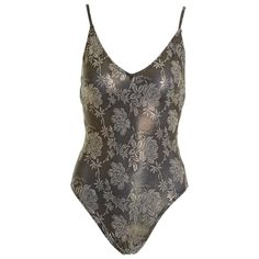32a2dd243a0ce View this item and discover similar swimwear for sale at - This lovely Christian  Dior Beachwear one piece swimsuit is in bronze lurex lycra fabric with ...