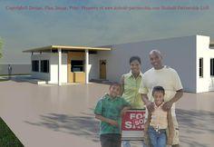 Build your Dream Home: 3-Bedroom House design for Ghana, Africa property market. Tel: +44 7916 569 729,   Email: admin@kuboid-partnership.com