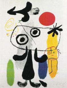Figur gegen rote Sonne II, 1950 by Joan Miro