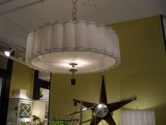 the white light would look great in your dining room to bright the room up