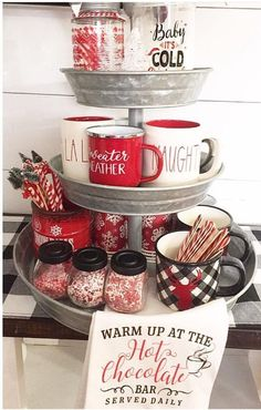 Christmas Kitchen Decorating Ideas So That Your Home Chef Rejoice' in Christmas Cheer - Ethinify Christmas Coffee, Rustic Christmas, Christmas Fun, Christmas Decorations, Christmas Tables, Christmas Brunch, Christmas Lights, Xmas, Farmhouse Christmas Kitchen
